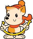Reeksbeeldverhaal weinig hond die dikke kabel houdt Royalty-vrije Stock Fotografie