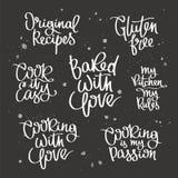 Reekscitaten over het koken stock illustratie