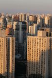 Reeksen gebouwen, Sao Paulo Royalty-vrije Stock Afbeeldingen