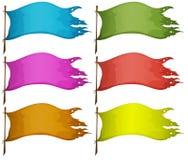 Reeksen lege vlaggen vector illustratie