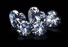 Reeksen van diamantjuwelen Royalty-vrije Stock Fotografie