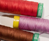 Reel. S of sewing thread of diverse colors Royalty Free Stock Photo