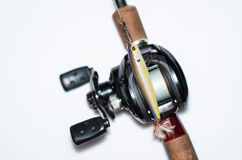 Reel with a bait Stock Photography