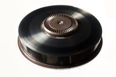 Reel of black backup magnetic tape. Reel of black magnetic tape used for backup Stock Image
