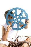 Reel from celluloid movie. Reel for prjector from celluloid movie Royalty Free Stock Photos