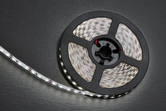 Reel of a diode strip with cold light Royalty Free Stock Photo
