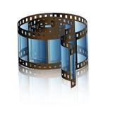 Reel of film. Illustration of blue reel of film royalty free illustration