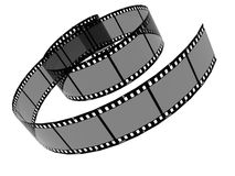 A reel of film. A 3d image of a reel of film stock illustration