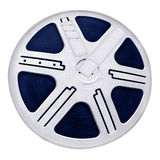 Reel film. Round Reel Film, object texture, white isolated Royalty Free Stock Photography
