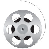 Reel of film. Cinematographic film is wound onto the spool. Vector illustration Royalty Free Stock Photography