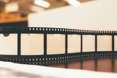 Reel of film close up photo Royalty Free Stock Image
