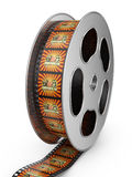 Reel of film with color pictures Royalty Free Stock Photo