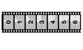 Reel film counter. For your design Royalty Free Stock Images