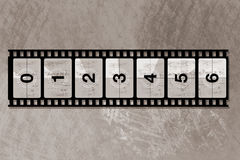 Reel film counter. For your design Royalty Free Stock Photos