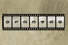 Reel film counter Stock Image