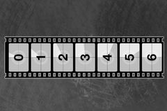 Reel film counter. For your design Royalty Free Stock Photo