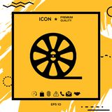 Reel film icon. Element for your design Royalty Free Stock Photography