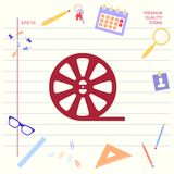 Reel film icon . Graphic elements for your design. Reel film icon . Signs and symbols - graphic elements for your design royalty free illustration