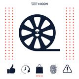 Reel film icon. Signs and symbols - graphic elements for your design Royalty Free Stock Photo