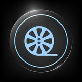 Reel film icon. Signs and symbols - graphic elements for your design royalty free illustration