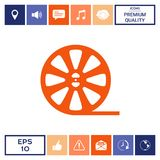 Reel film icon. Signs and symbols - graphic elements for your design Royalty Free Stock Photography