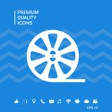Reel film icon. Signs and symbols - graphic elements for your design Stock Image