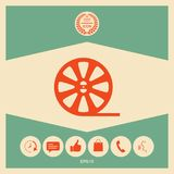 Reel film icon. Signs and symbols - graphic elements for your design stock illustration