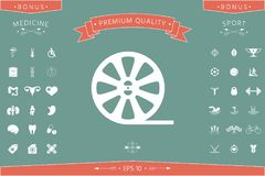 Reel film icon. Signs and symbols - graphic elements for your design Royalty Free Stock Images