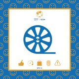 Reel film icon. Signs and symbols - graphic elements for your design Stock Photos