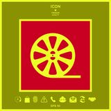 Reel film icon. Signs and symbols - graphic elements for your design Stock Photography