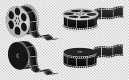Reel film isolated icon. Black illustration eps10 Stock Photography