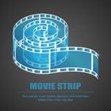 Reel film isolated icon. Vector illustration eps10 Royalty Free Stock Images