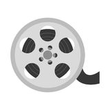 Reel film isolated icon. Vector illustration design Stock Image