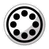 Reel film isolated icon Stock Image