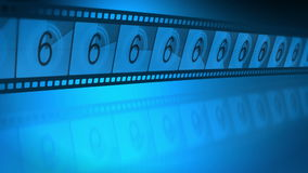 Reel film leader. A 3D video animation of universal film leader countdown stock footage