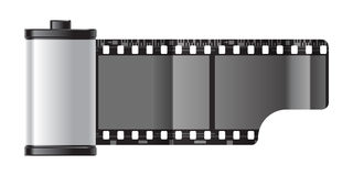 Reel of film. Reel of 35 mm photo film Royalty Free Stock Images