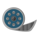 Reel film movie wheel icon. Vector illustration eps 10 Stock Image