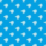 Reel film pattern vector seamless blue. Repeat for any use Stock Image