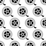 Reel with film pattern. On the white background. Vector illustration royalty free illustration