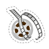 Reel film strip cinema movie image. Illustration eps 10 Royalty Free Stock Photography