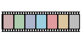 Reel film strip. For your design Royalty Free Stock Photo