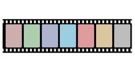 Reel film strip Stock Photography