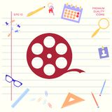 Reel film symbol . Graphic elements for your design. Reel film symbol . Signs and symbols - graphic elements for your design stock illustration