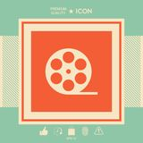 Reel film symbol icon. Signs and symbols - graphic elements for your design Royalty Free Stock Image