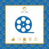 Reel film symbol icon. Signs and symbols - graphic elements for your design Stock Photos