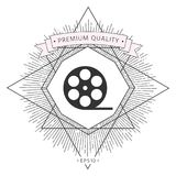 Reel film symbol icon. Signs and symbols - graphic elements for your design Stock Photography