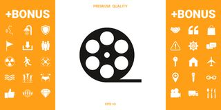 Reel film symbol icon. Signs and symbols - graphic elements for your design vector illustration