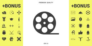 Reel film symbol icon. Signs and symbols - graphic elements for your design royalty free illustration