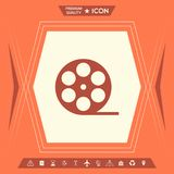 Reel film symbol icon. Signs and symbols - graphic elements for your design stock illustration