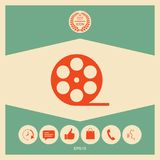 Reel film symbol icon. Signs and symbols - graphic elements for your design Royalty Free Stock Photo